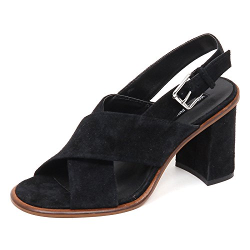Scarpe Woman Nero Windsor Shoe Donna smith E0140 Sandalo Suede Without Box Nero rf0qBvwY0