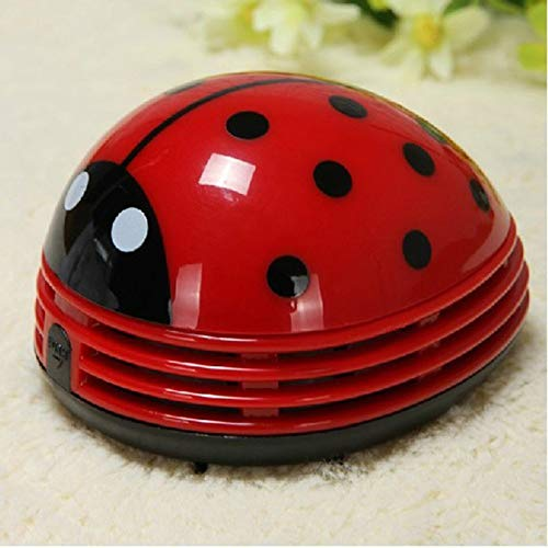 sahnah Mini Size Lovely Cute Cartoon Ladybug Shape Desktop Vacuum Cleaner Home Office Keyboard Dust Collector Cleaner