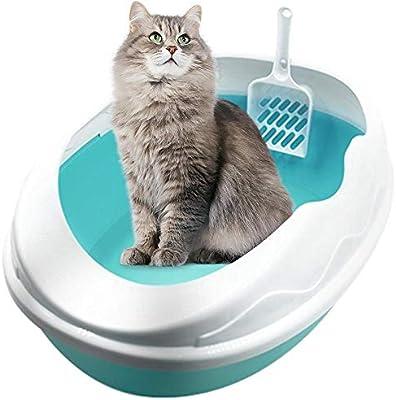 Inodoro para Gatos-Arena para Gatos Semicerrada Baño De Arena para ...