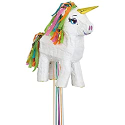 White Unicorn Pinata, Pull String