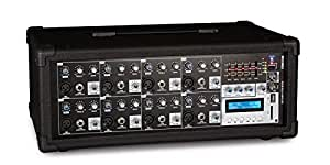 FONESTAR SMA-158U Mezclador autoamplificado de 8 canales. USB/SD/MP3, 150 + 150 W RMS a 4 Ohm 100 + 100 W RMS a 8 Ohm, color negro