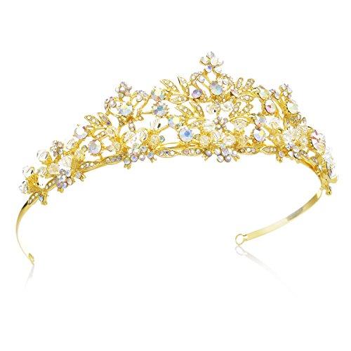 SWEETV Fairytale Rhinestone Princess Crown Wedding Tiara Party Hats Pageant Hair Jewelry