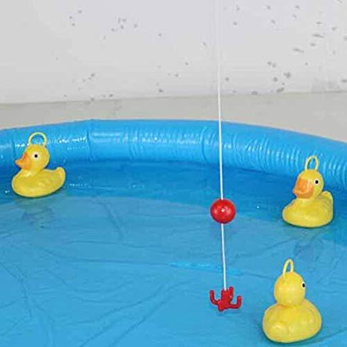 Asseny Pato Juego Pesca Estanque Piscina con 5 Patitos Set Ni/ños Educativo Preescolar Juguete