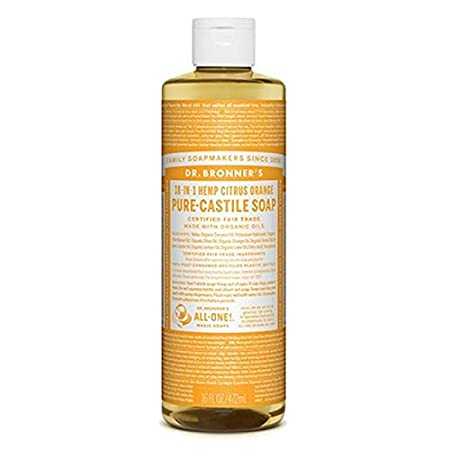 Dr. Bronner's Magic Soap Organic Citrus Orange Oil Castile Soap, 472-Milliliter Dr. Bronner' s Magic Soap 0739