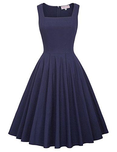 Bella Blue Dresses (Belle Poque Women Evening Party Dress Cocktail Dress Size L Navy Blue BP436-2)
