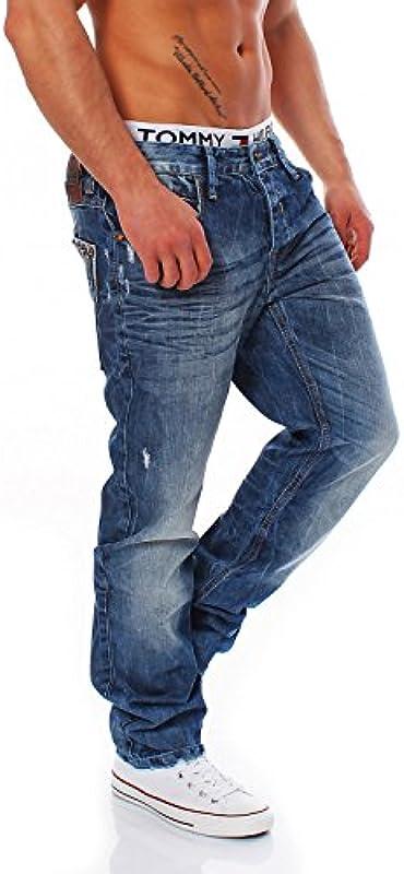 Cipo & Baxx - C-1047 - Regular Fit - męskie spodnie jeansowe: Odzież