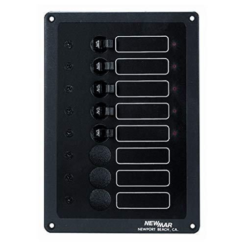 New Mar AC or DC Accessory Panel - ACCY Panel,8 Cap,5 INST - (ACCY-IX) ()