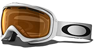 Oakley Unisex-Adult Elevate Snow Goggles(Polished White,Persimmon)