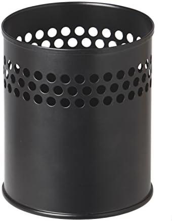 Stifteköcher aus Metall, ca. Ø 9 cm, Höhe 9.5 cm, schwarz