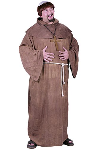 Medieval Monk Plus Size Costume -