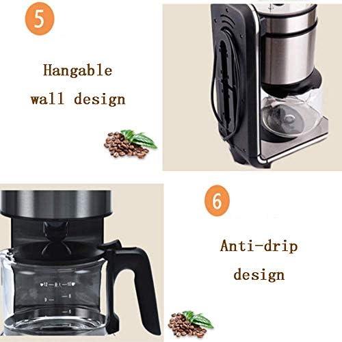 Qinmo Machine à café glacé, Machine à café Servir, Freshly Ground Commercial en Acier Inoxydable Machine à café Automatique Goutte à Goutte Accueil Cafetière