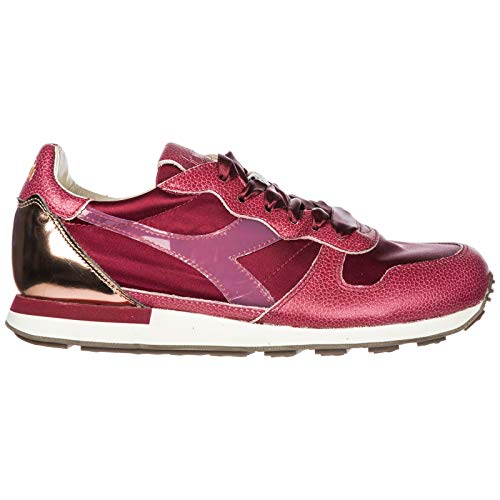 Zapatillas de Piel Camaro en fuxi Zapatos Nuevo Diadora Deporte Heritage Mujer h xaCnA
