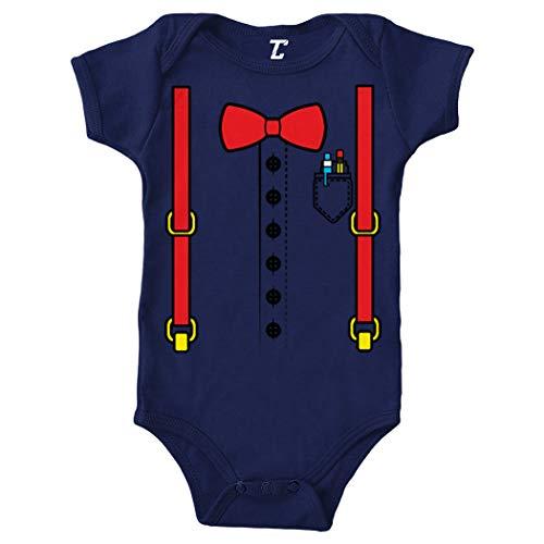 Nerd Costume - Nerdy Smart Student Bodysuit (Navy Blue, 6 Months)
