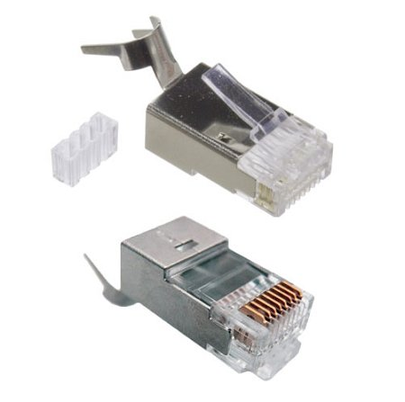 RiteAV - 23 AWG Shielded CAT 6 Solid Terminating Crimp Ends Designed for Direct Burial Cable (10 - Bury 10 Cable Direct