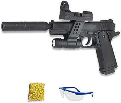 GALAXY G.053A Pistola de Airsoft Calibre 6mm (Arma Aire Suave de Bolas de plástico o PVC). Sistema: Muelle. <3,5J