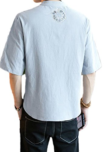 shirts Breathable Comfortable Para Hombres Camisas T Summer Gris xagn1YY4