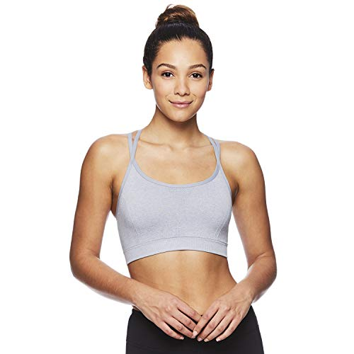 Reebok Women's Medium Impact Butterfly Strap Sports Bra with Removable Cups