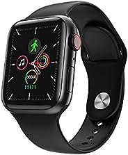 "Relógio Smartwatch Inteligente KrillMall 12 Bluetooth 4.0 Tela 1.54"" Full Touch (P"