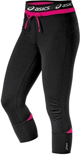 ASICS Women's Abby Cuff Capri, Magenta, - Pants Asics Workout