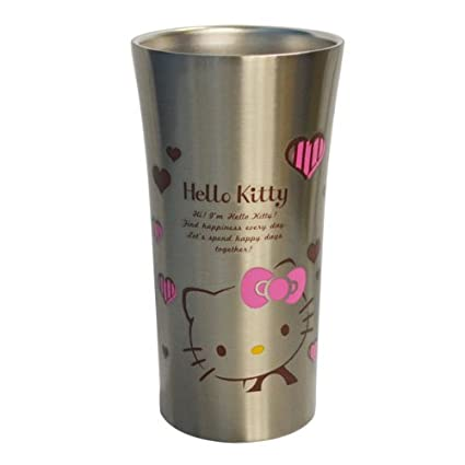 Hello Kitty Heart and Stripes acero vaso 300ml STB3 (jap?n importaci?n