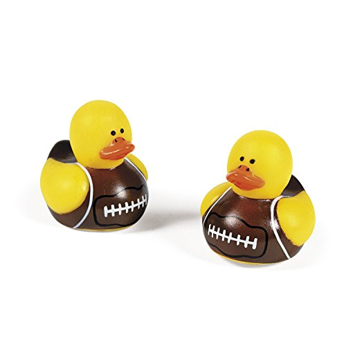 24-pc Mini Football Rubber Ducky Party Favors