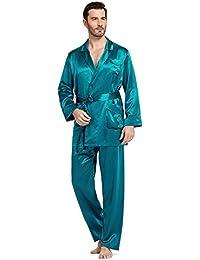 b2268e4fdb Silk Pajamas Set for Men Summer 22 Momme Most Comfortable Sleepwear