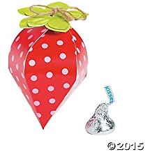 Strawberry Party Favor Boxes - 12 ct