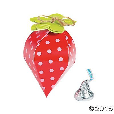 Strawberry Party Favor Boxes - 12 ()