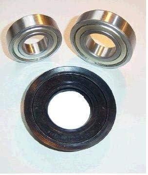 Rodamientos de tambor Juego de almacenamiento para AEG Privileg Lavadora 6206ZZ 6207ZZ 40,2x72x11/14