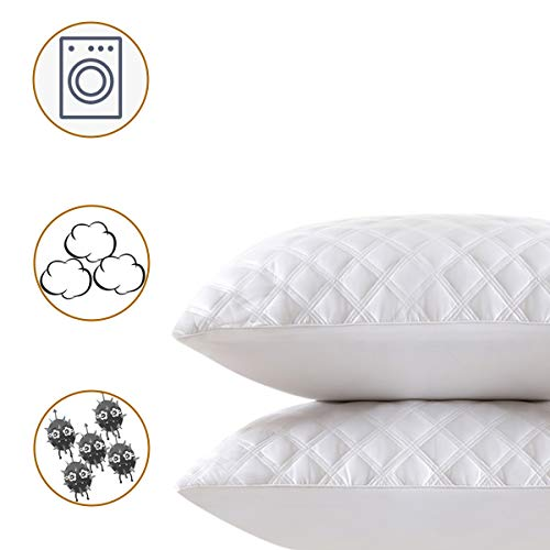 ssup clean (2-Pack Pillows) Premium + Soft Pillows for Sleeping Luxury Bed Pillows - Hotel Collection - Down Flat Pillow Great for Stomach Sleepers (King)