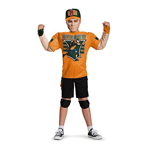 [John Cena Classic Muscle WWE Costume, Medium/7-8] (Kids Wwe Costumes)