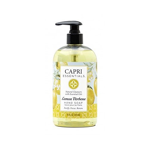 (Capri Essentials Natural Hand Soap with Essential Oils - Lemon Verbena, 16 oz.)
