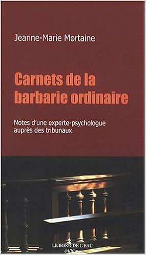 Télécharger en ligne Carnets de la barbarie ordinaire pdf, epub ebook