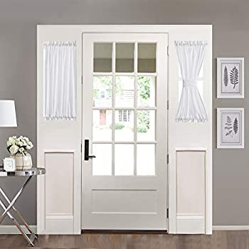 Amazon Com Nicetown Sidelight Curtains For Front Door
