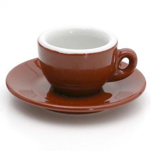Nuova Point Sorrento Brown Espresso Cup & Saucer Set – One Dozen