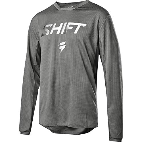 Shift Racing Whit3 Ghost Collection LE Men's Off-Road Motorcycle Jersey - Grey/Medium