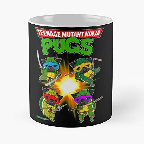 Teenage Mutant Ninja Pugs Classic Mug - The Funny Coffee ...