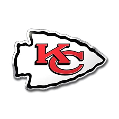 NFL Kansas City Chiefs Die Cut Color Automobile Emblem