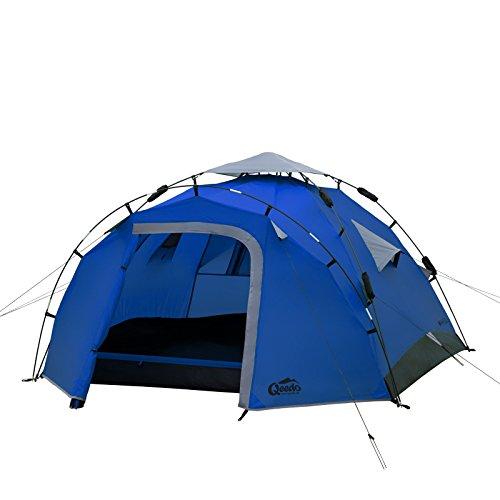 Qeedo Quick Pine 3 Campingzelt - blau