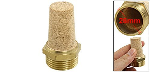DealMux 3//4 PT rosca macho dorado de escape neum/ático de ruido del silenciador Silenciador