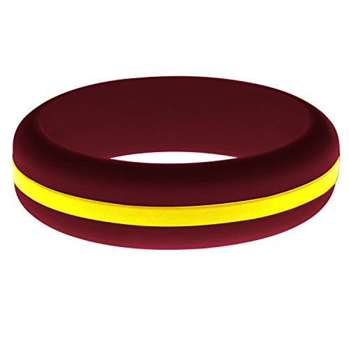 FLEX Ring - Womens Mens Cardinal Red Silicone Ring - Changeable Color Bands - Many Colors - Safe, Durable, Everyday Wear Wedding Band - 1 Ring - Sizes 4-16