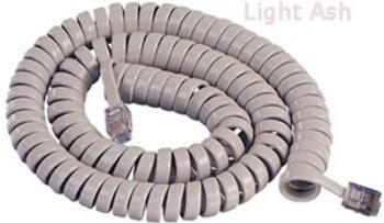 Gcha444012-Fla / 12' Lt Ash Handset Cord - Product Description - - Icc Handset Cord- 12' Length- Curly Handset Cord- Light Ash ...