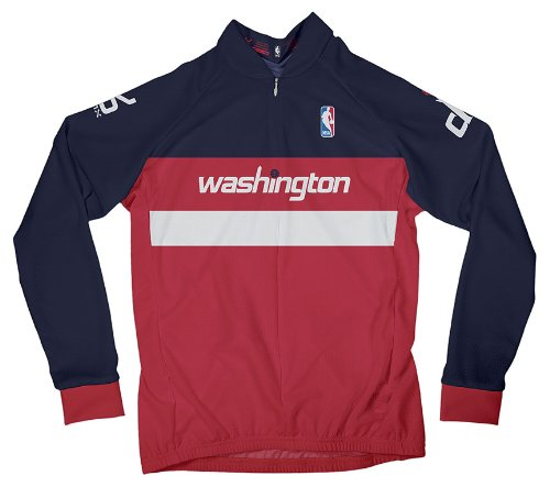 NBA Washington Wizards Women's Long Sleeve Cycling Away Jersey, XL, Red (Washington State Jersey Cycling)