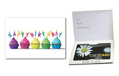 Happy Birthday - (Cupcakes) Gift Card Holder (100 pack)