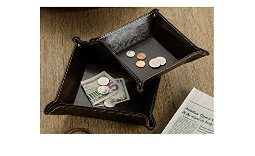 Bombay Company Faux-Leather Coin Trays, Set of 2