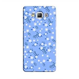 Cover It Up - Navy Blue Flower Paper Navy Samsung Galaxy A7 Hard Case