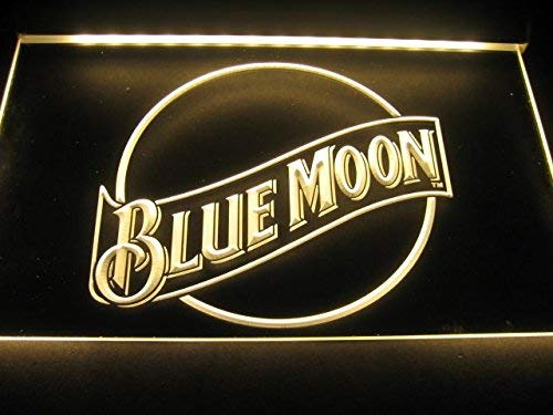 - Blue Moon Logo Neon LED Sign Yellow by WorldLEDHouse