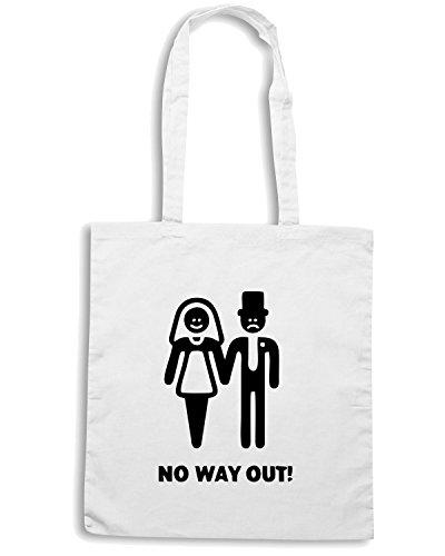 T-Shirtshock - Bolsa para la compra MAT0063 No Way Out Maglietta Blanco