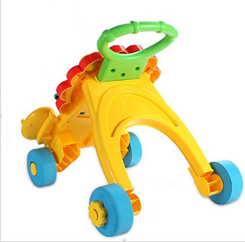 Baby Walker Baby Early Learning Puzzle Multi-Function Walker with Music Little Lion Anti-Rollover Cart