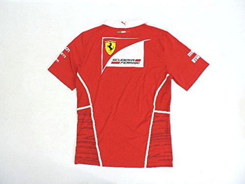 フェラーリ 2017年 支給品 ドライバー用 ストレッチ素材 襟付き Vネック Tシャツ メンズ new 新品  Small
